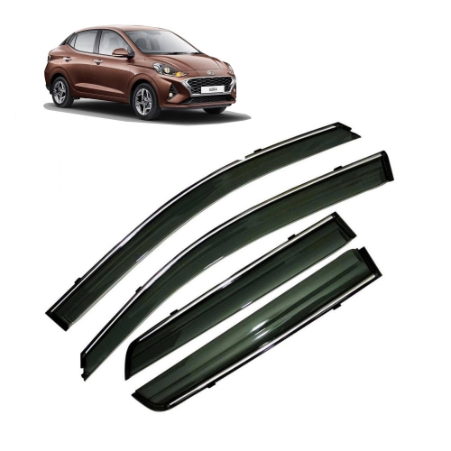 Imported Car Chrome Lining Window Door Visor For Hyundai Aura