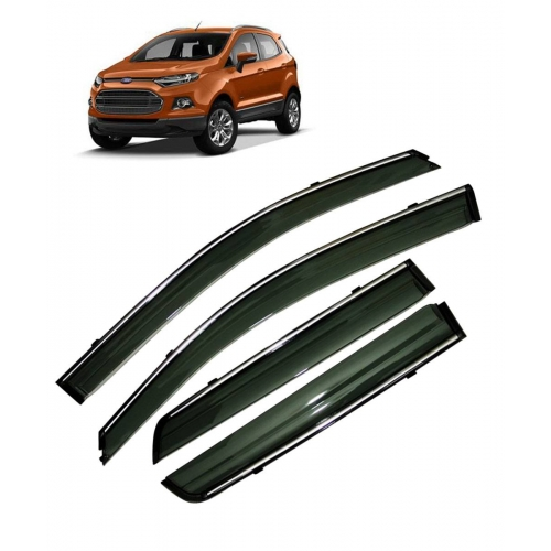 Car Window Door Visor With Chrome Line For Ford Ecosport (Imported)