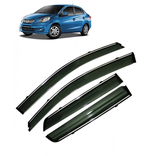 Car Window Door Visor With Chrome Line For Honda Amaze (Imported)