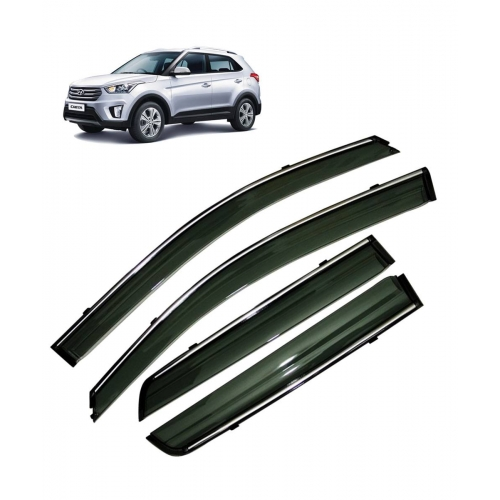 Car Window Door Visor With Chrome Line For Hyundai Creta (Imported)