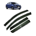 Car Window Door Visor With Chrome Line For Maruti New Dzire 2017 (Imported)