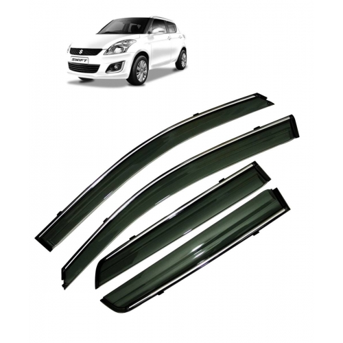 Car Window Door Visor With Chrome Line For Maruti New Swift (Imported)