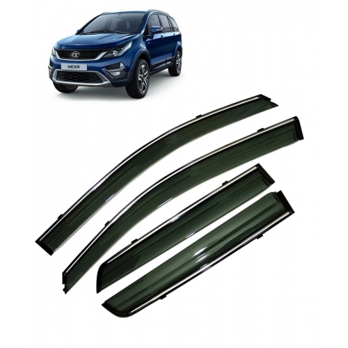 Car Window Door Visor With Chrome Line For Tata Hexa (Imported)