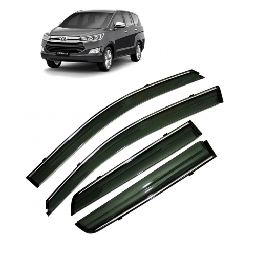 Car Window Door Visor With Chrome Line For Toyota Innova Crysta Set Of 6