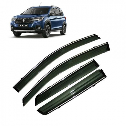 Car Window Door Visor With Chrome Line For Maruti Nexa XL6 Set Of 6