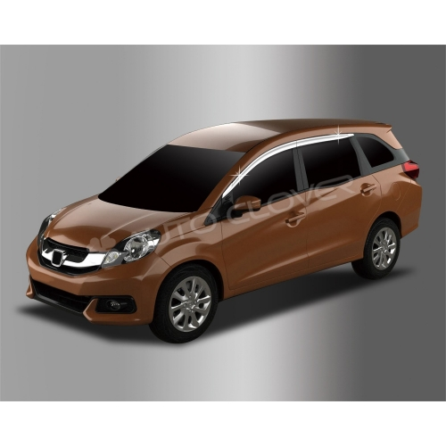 Autoclover Full Chrome Window Door Visor Deflector For Honda Mobilio