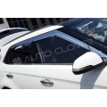 Autoclover Full Chrome Window Door Visor Deflector For Hyundai New Creta 2018