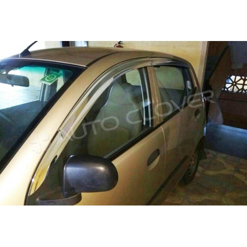 Autoclover Full Chrome Window Door Visor Deflector For Hyundai i10