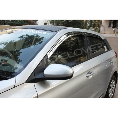 Autoclover Full Chrome Window Door Visor Deflector For Hyundai I20 Elite