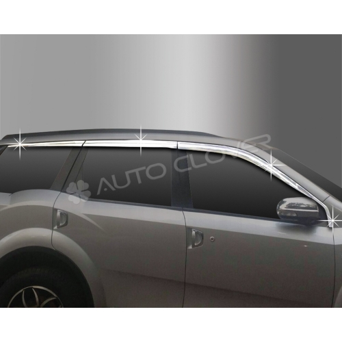 Autoclover Full Chrome Window Door Visor Deflector For Mahindra Xuv 500