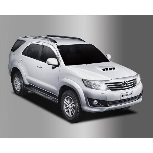 Autoclover Full Chrome Window Door Visor Deflector For Toyota Fortuner 2012 2015