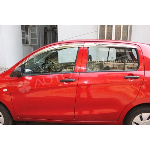 Autoclover Full Chrome Window Door Visor Deflector For Maruti Suzuki Celerio