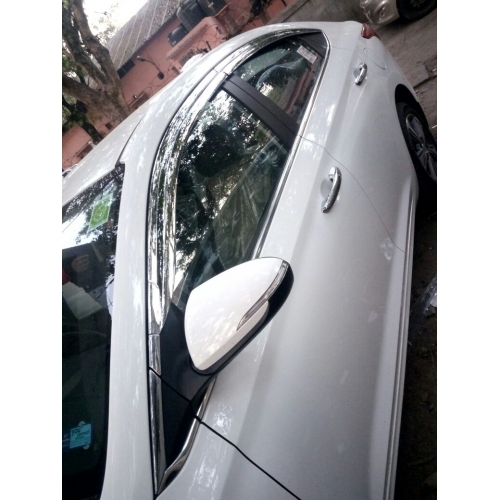 Autoclover Full Chrome Window Door Visor Deflector For Hyundai New Verna 2017