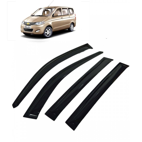Car Window Door Visor For Chevrolet Enjoy Set Of 4 (Black)