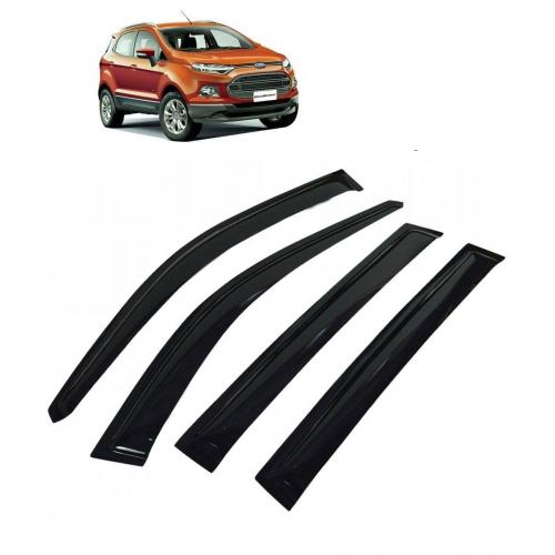 Car Window Door Visor For Ford Ecosport Set Of 4 (Black)