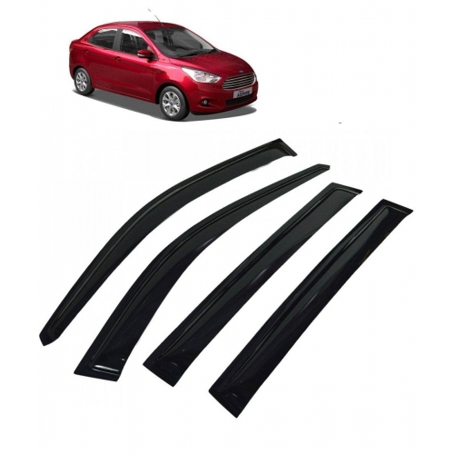 Car Window Door Visor For Ford Figo Aspire Set Of 4 (Black)