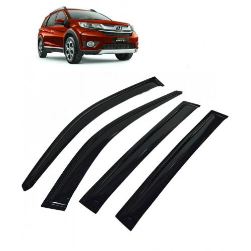Car Window Door Visor For Honda BRV Set Of 6 (Black)