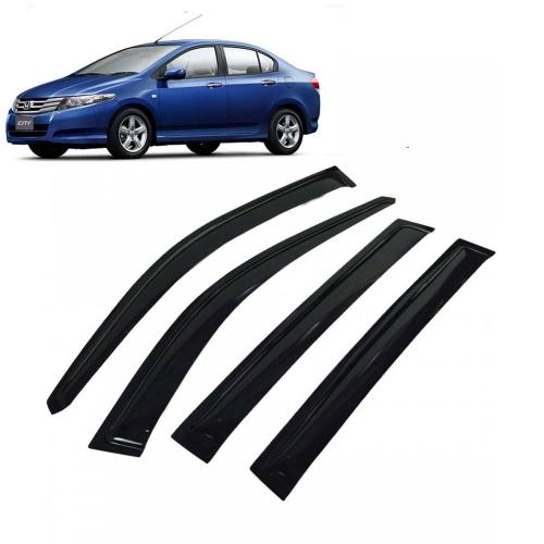Car Window Door Visor For Honda City Ivtec 2009 Set Of 4 (Black)