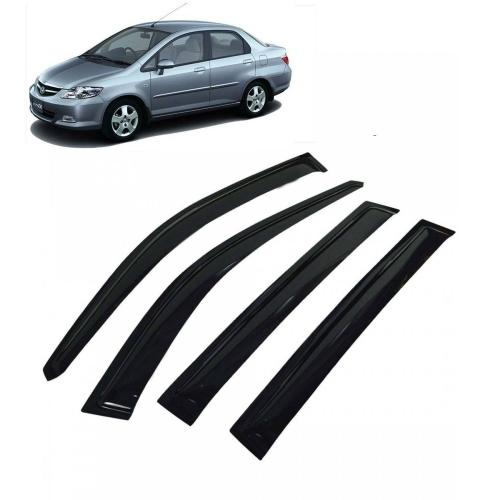 Car Window Door Visor For Honda City Zx Set Of 4 (Black)