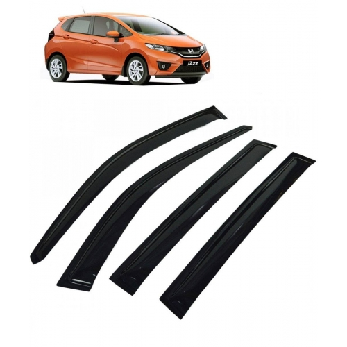 Car Window Door Visor For Honda Jazz New Set Of 4 (Black)