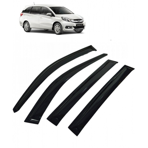 Car Window Door Visor For Honda Mobilio Set Of 6 (Black)