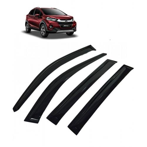 Car Window Door Visor For Honda WRV Set Of 4 (Black)