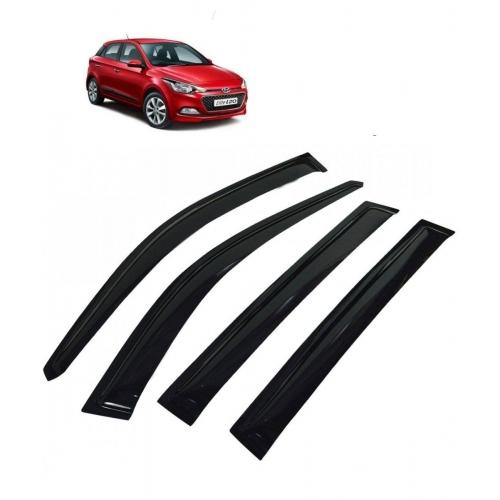 Car Window Door Visor For Hyundai I20 Elite Set Of 4 (Black)