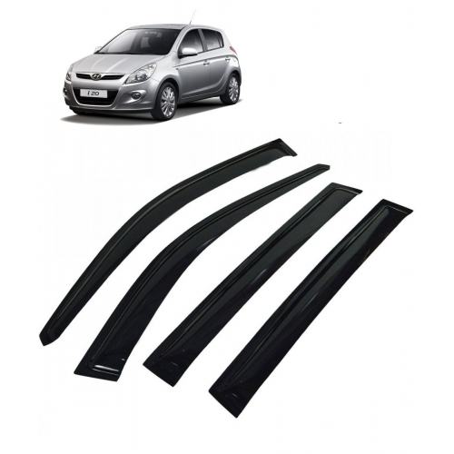 Car Window Door Visor For Hyundai I20 Old Set Of 4 (Black)