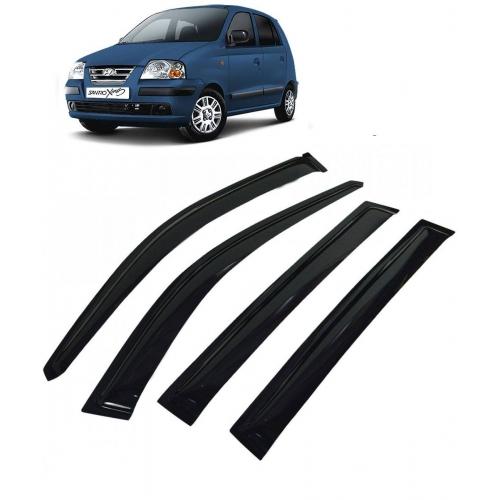 Car Window Door Visor For Hyundai Santro Xing Set Of 4 (Black)