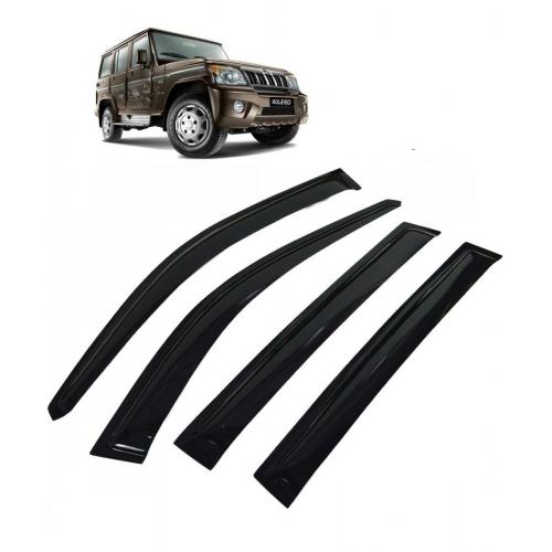 Car Window Door Visor For Mahindra Bolero Set Of 6 (Black)