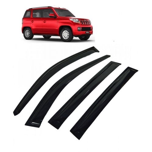 Car Window Door Visor For Mahindra TUV 300 Set Of 6 (Black)