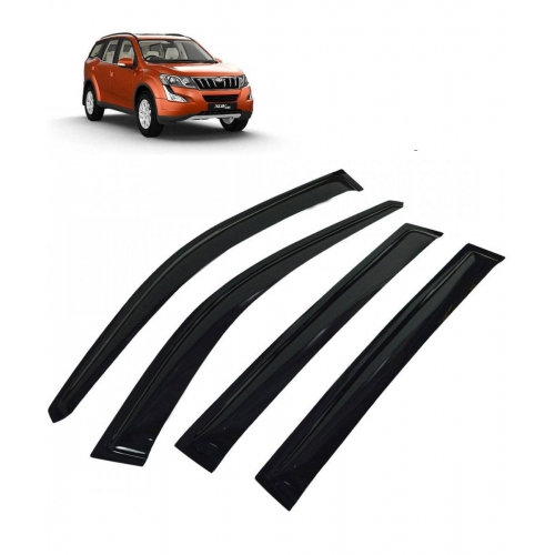 Car Window Door Visor For Mahindra XUV 500 Set Of 6 (Black)