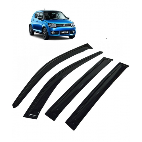 Car Window Door Visor For Maruti Nexa Ignis Set Of 4 (Black)