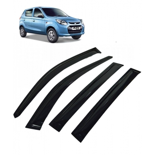 Car Window Door Visor For Maruti Suzuki Alto 800 Set Of 4 (Black)