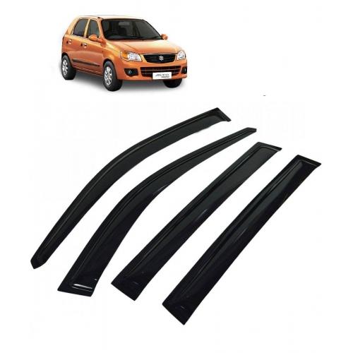 Car Window Door Visor For Maruti Suzuki Alto K10 Set Of 4 (Black)