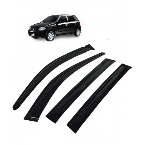 Car Window Door Visor For Maruti Suzuki Alto Old Set Of 4 (Black)