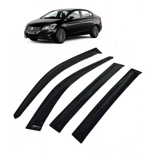 Car Window Door Visor For Maruti Suzuki Ciaz Set Of 4 (Black)