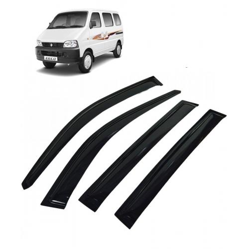 Car Window Door Visor For Maruti Suzuki Eeco Set Of 6 (Black)