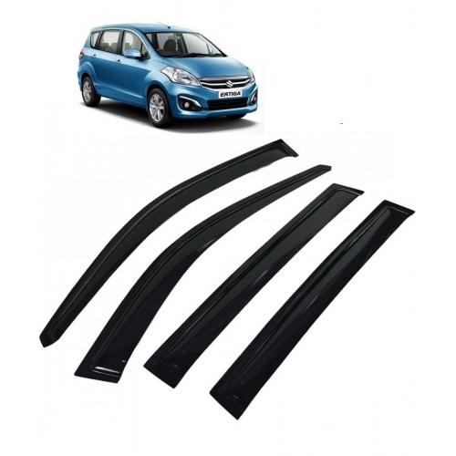 Car Window Door Visor For Maruti Suzuki Ertiga Set Of 6 (Black)