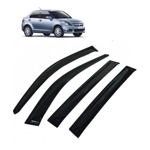 Car Window Door Visor For Maruti Suzuki Swift Dzire New Set Of 4 (Black)