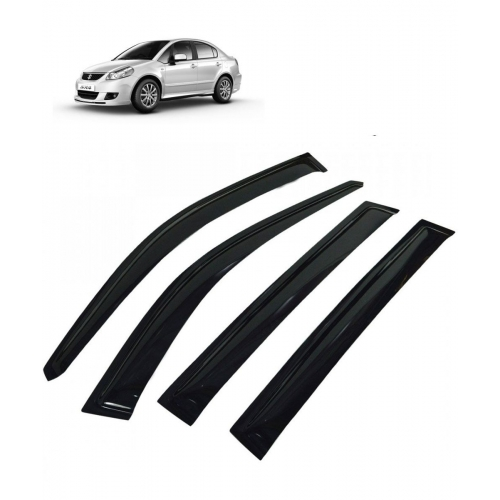 Car Window Door Visor For Maruti Suzuki Sx4 Set Of 4 (Black)