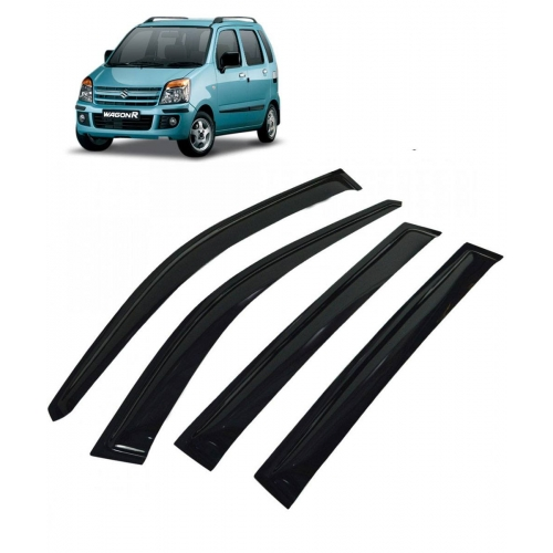 Car Window Door Visor For Maruti Suzuki Wagon R Old Set Of 4 (Black)