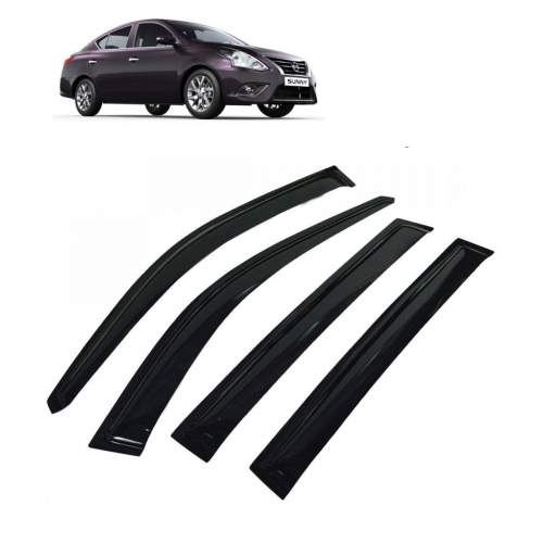 Car Window Door Visor For Nissan Sunny Set Of 4 (Black)