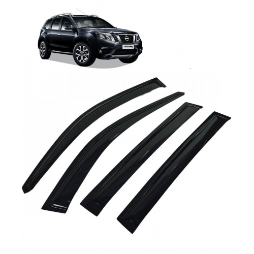 Car Window Door Visor For Nissan Terrano Set Of 6 (Black)