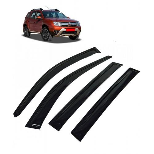 Car Window Door Visor For Renault Duster Set Of 6 (Black)
