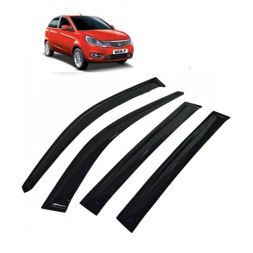 Car Window Door Visor For Tata Bolt Set Of 4 (Black)
