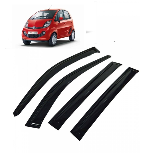 Car Window Door Visor For Tata Nano Set Of 4 (Black)