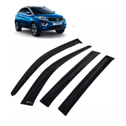 Car Window Door Visor For Tata Nexon Set Of 4 (Black)