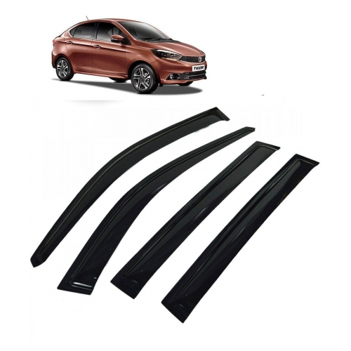 Car Window Door Visor For Tata Tigor Set Of 4 (Black)