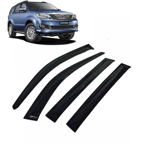 Car Window Door Visor For Toyota Fortuner Old Set Of 6 (Black)